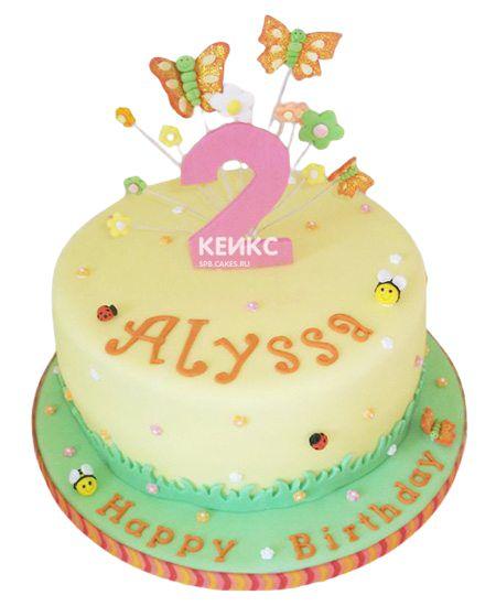 Торт на 2 года девочке 56