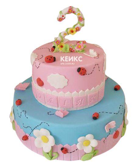 Торт на 2 года девочке 58