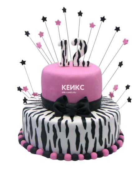 Торт на 12 лет девочке