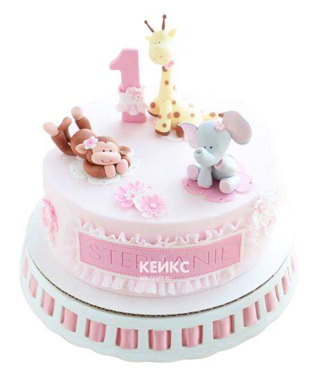 Торт на годик девочке 27