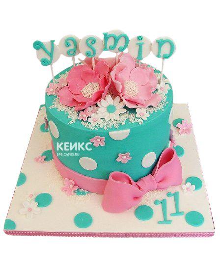Торт на 11 лет девочке 3