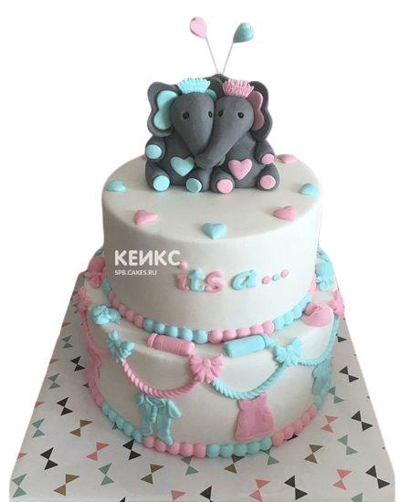 Торт на рождение Мальчик или Девочка 1
