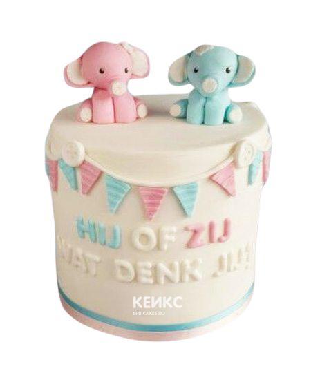 Торт на рождение Мальчик или Девочка 10