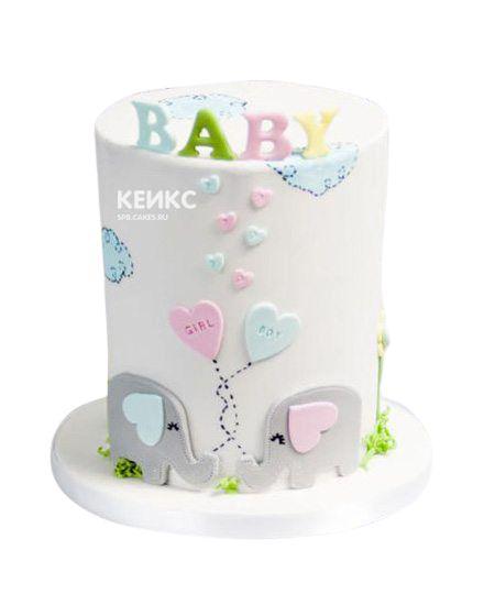 Торт на рождение Мальчик или Девочка 2