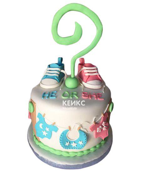 Торт на рождение Мальчик или Девочка 3