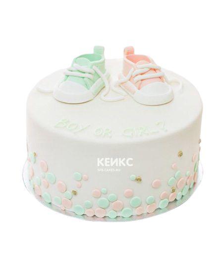 Торт на рождение Мальчик или Девочка 4