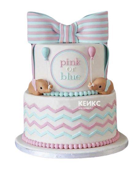 Торт на рождение Мальчик или Девочка