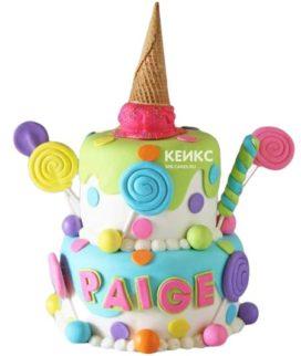 Торт на 7 лет девочке 3