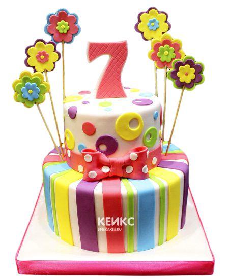 Торт на 7 лет девочке 5