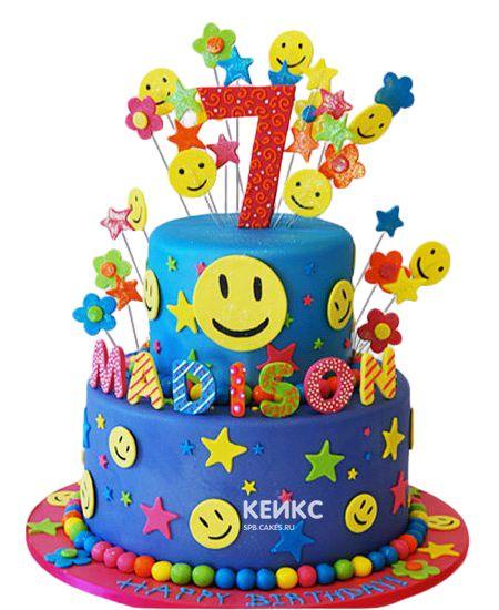 Торт на 7 лет мальчику 9
