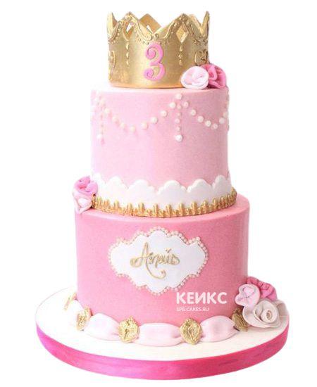 Торт на 3 года девочке 1
