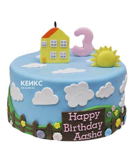 Торт на 3 года девочке 5