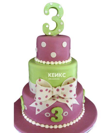 Торт на 3 года девочке 8