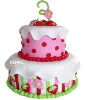 Торт на 3 года девочке 9