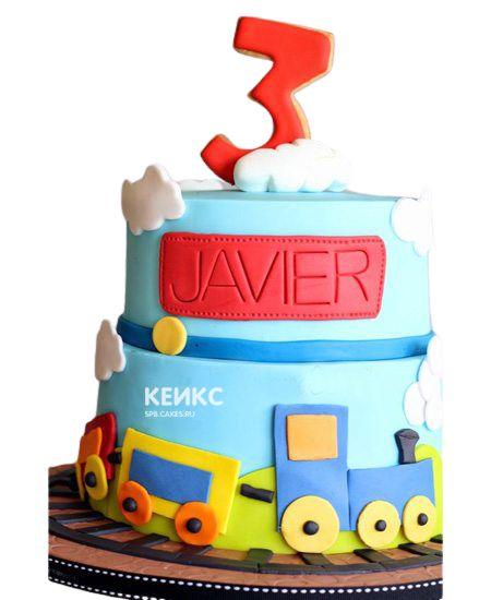 Торт на 3 года мальчику 1