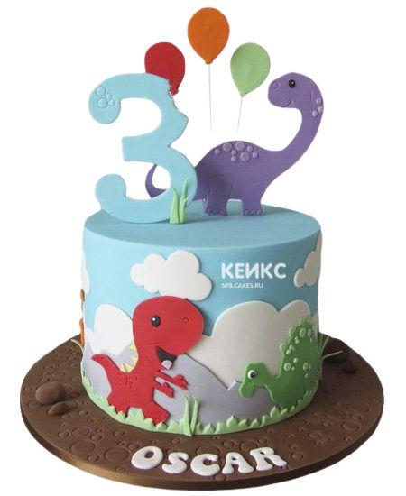 Торт на 3 года мальчику 15