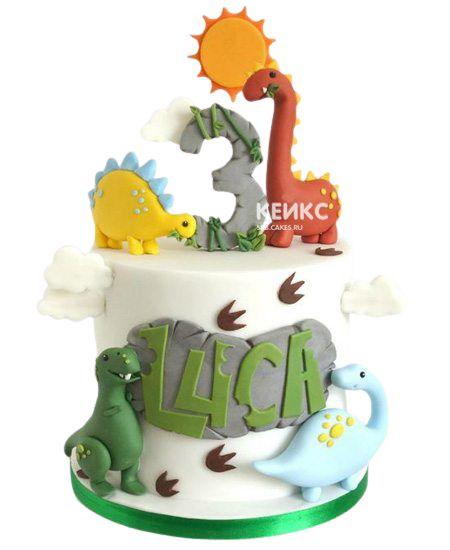 Торт на 3 года мальчику 8