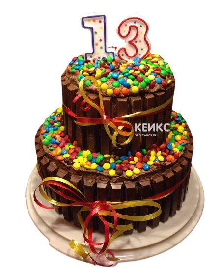 Торт на 13 лет девочке 10