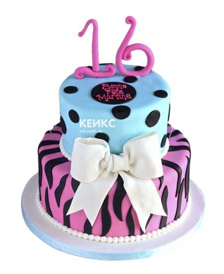 Торт на 13 лет девочке 13