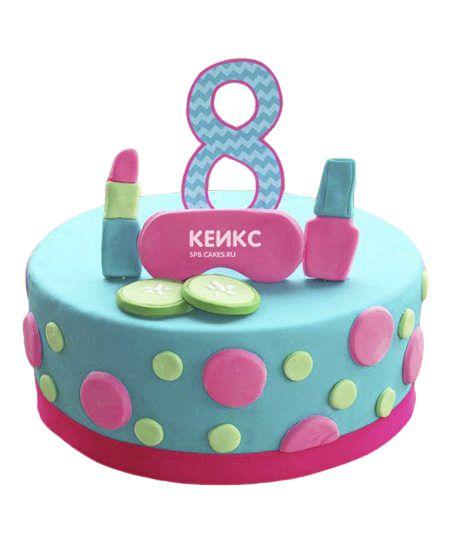 Торт на 8 лет девочке 1