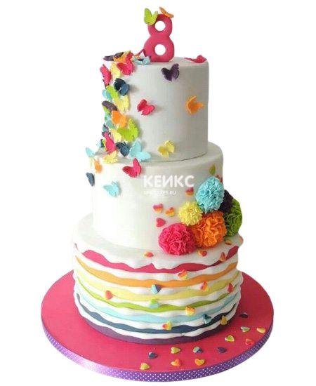 Торт на 8 лет девочке 7