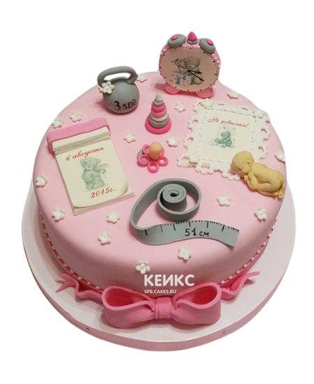Торт на выписку для девочки 10