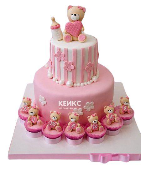 Торт на выписку для девочки 11