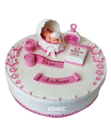 Торт на выписку для девочки 2