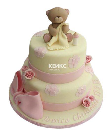 Торт на выписку для девочки 3
