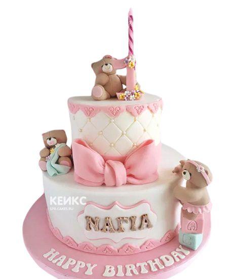 Торт на выписку для девочки 7