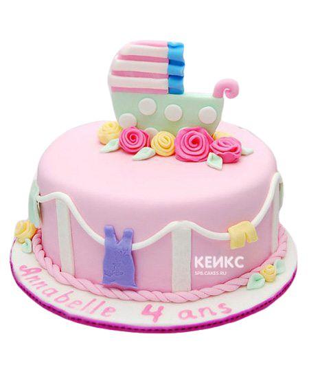 Торт на выписку для девочки 9