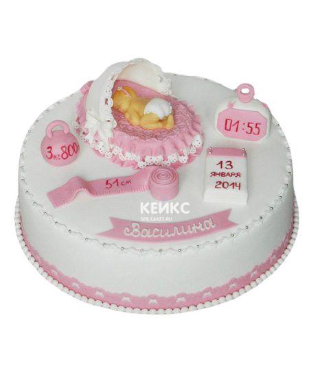 Торт на выписку для девочки