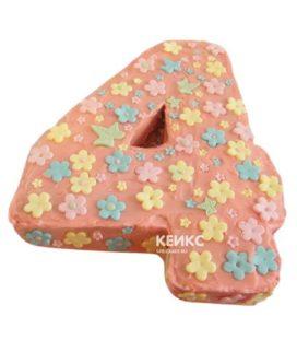 Торт с цифрой 4 для девочки