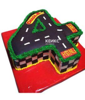 Торт с цифрой 4 для мальчика