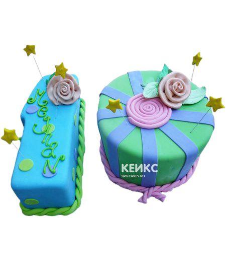 Торт с цифрой 10 для девочки 1