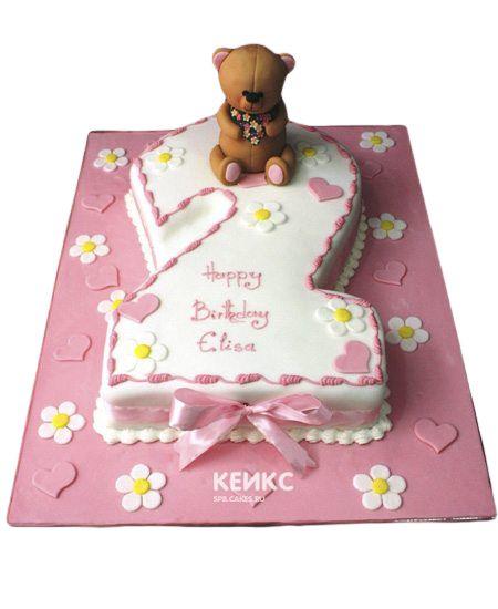 Торт с цифрой 2 для девочки 4