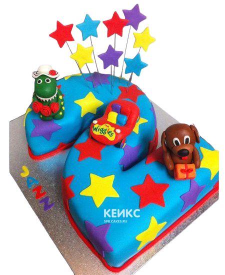 Торт с цифрой 2 для мальчика 11
