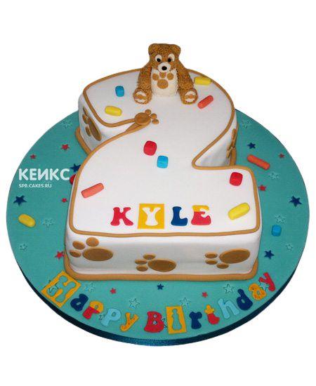 Торт с цифрой 2 для мальчика 8