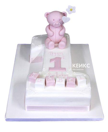 Торт с цифрой 1 для девочки 17