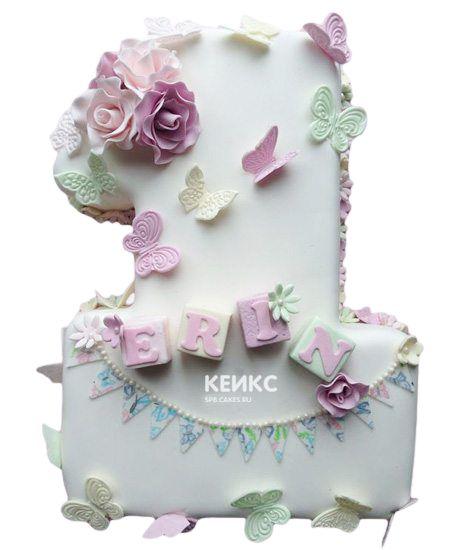 Торт с цифрой 1 для девочки 18