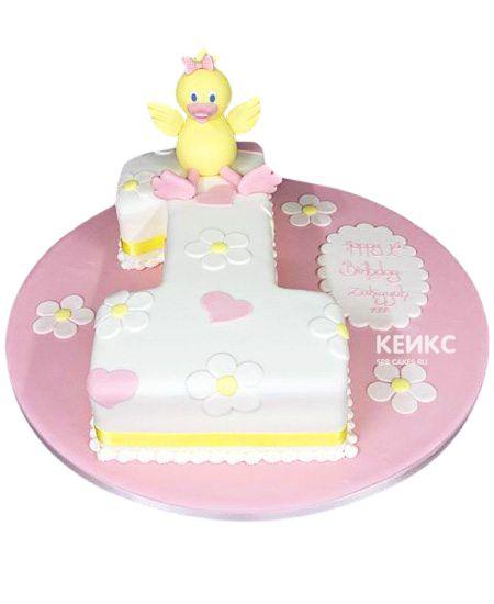 Торт с цифрой 1 для девочки 4