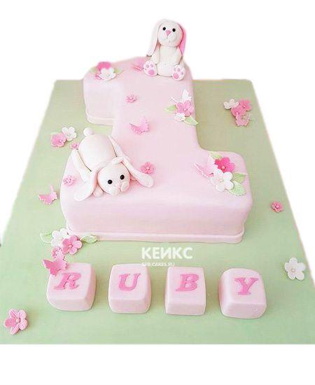 Торт с цифрой 1 для девочки 6