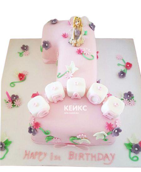 Торт с цифрой 1 для девочки 8