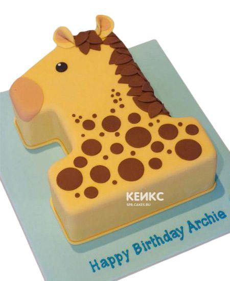Торт с цифрой 1 для девочки 11