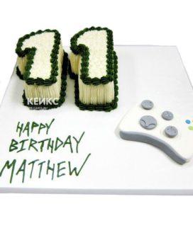 Торт с цифрой 11 для мальчика