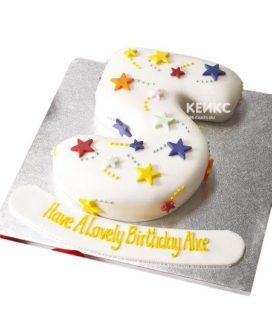 Торт с цифрой 5 для девочки 4