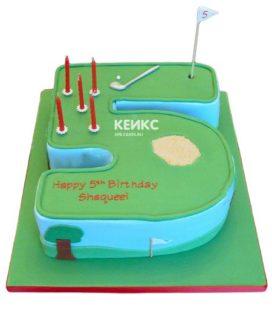 Торт с цифрой 5 для мальчика 11