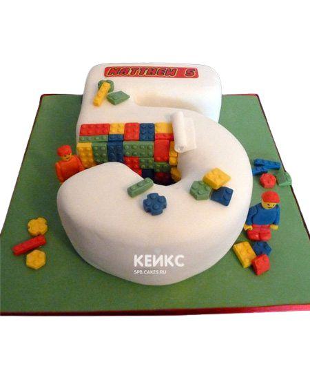 Торт с цифрой 5 для мальчика 12