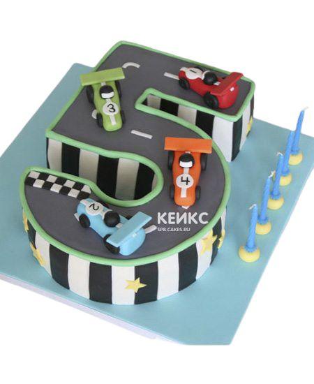 Торт с цифрой 5 для мальчика 4