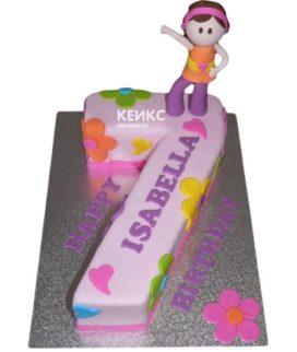 Торт с цифрой 7 для девочки 4
